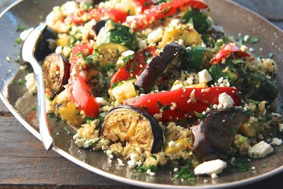 Mediterranean Quinoa and Grilled Vegetable Salad