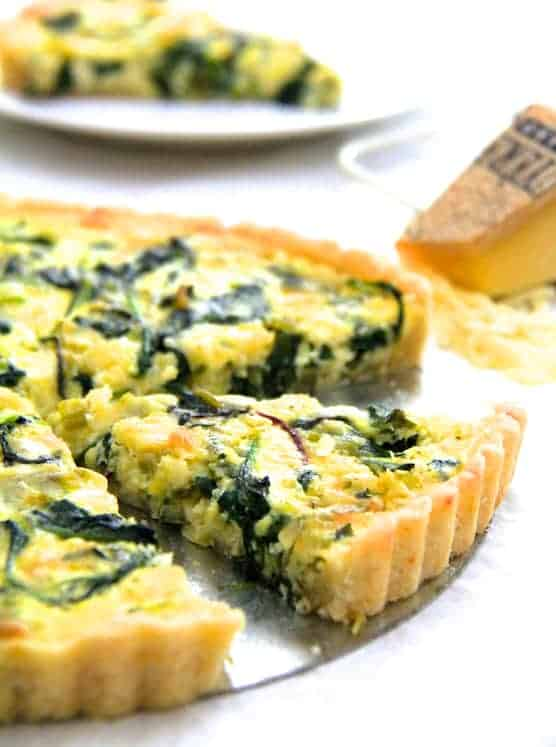 Spring Green, Leek and Gruyere Tart