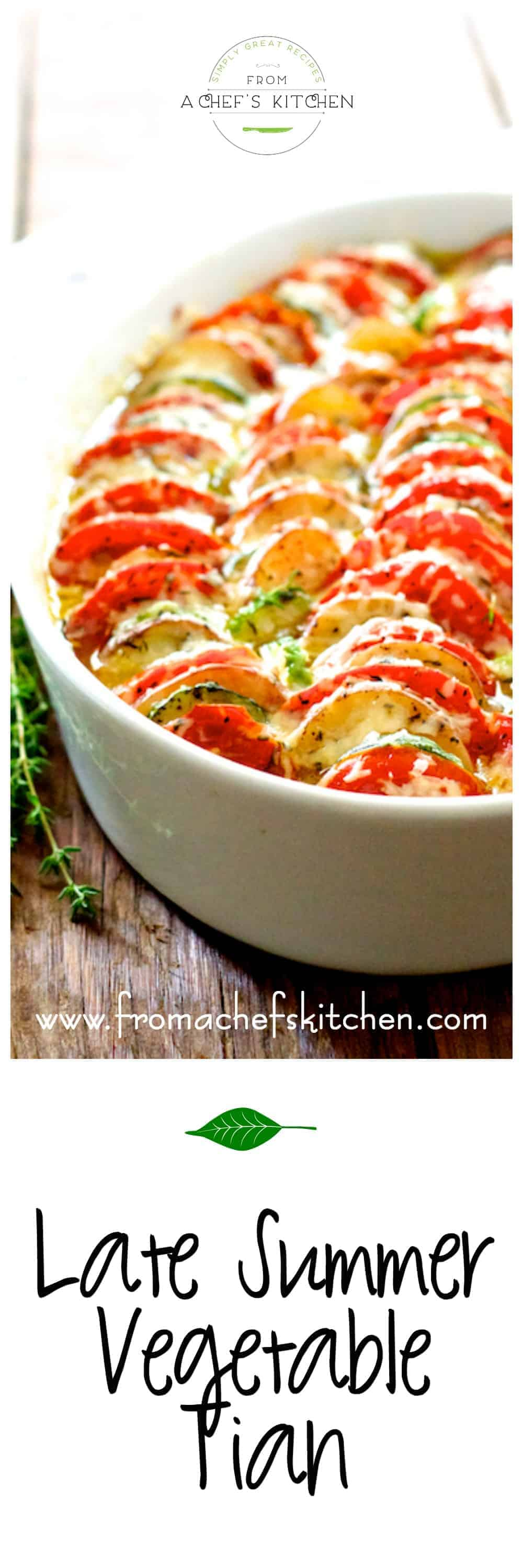 Late Summer Vegetable Tian with tomatoes, zucchini and potatoes is a beautiful Provencal-inspired dish!