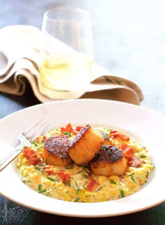 Seared Scallops with Smoky Sweet Corn Puree