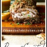 Serve up some Southern flair! Pecan-Crusted Pork Tenderloin with Bourbon - Mustard Sauce is easy and elegant!