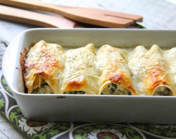 Chicken Spinach and Artichoke Cannelloni