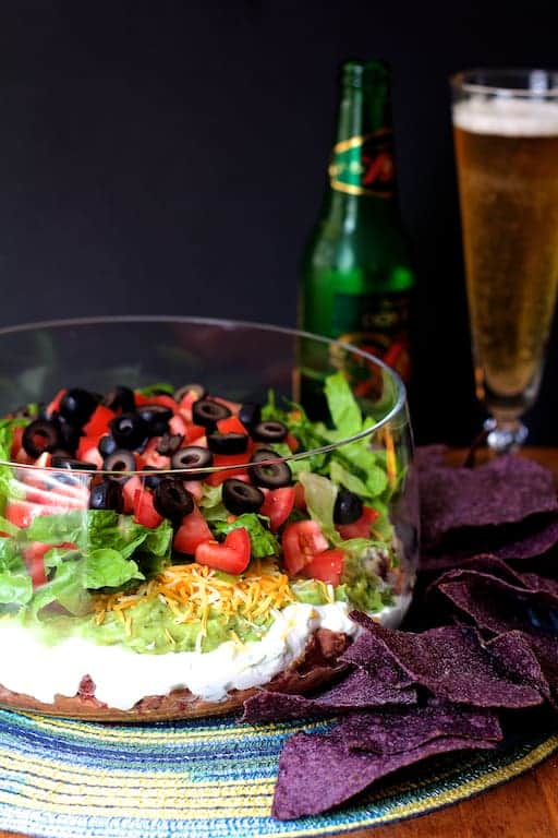 Lighter and Fresher Seven Layer Dip