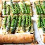 Asparagus, Spring Onion and Fontina Tart