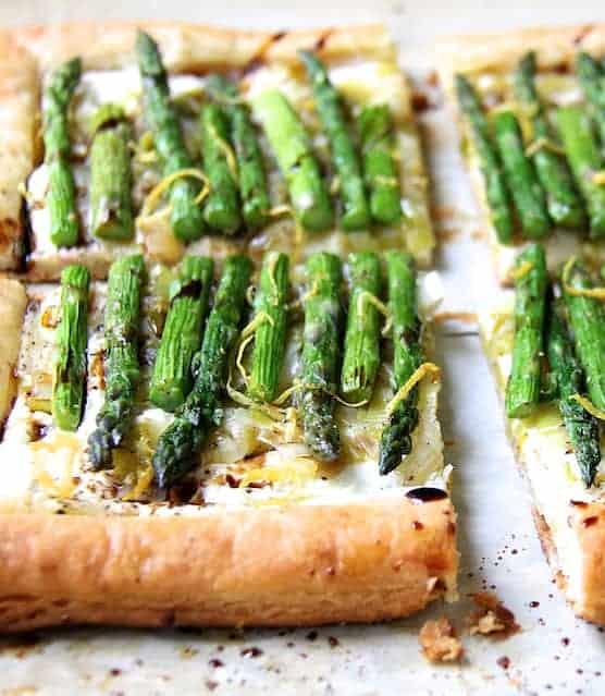 Photo of Asparagus, Spring Onion and Fontina Tart.