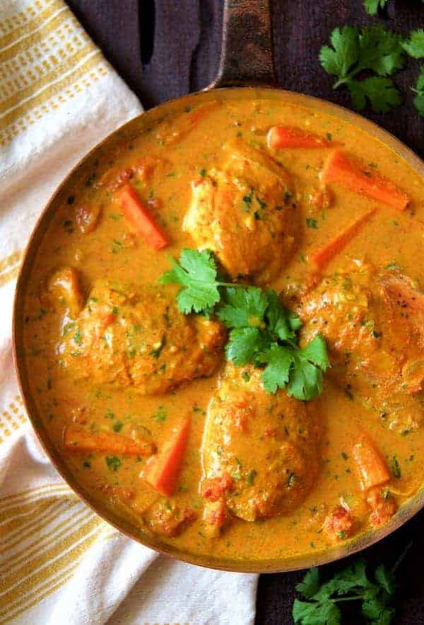 Curry Braised Chicken Thighs