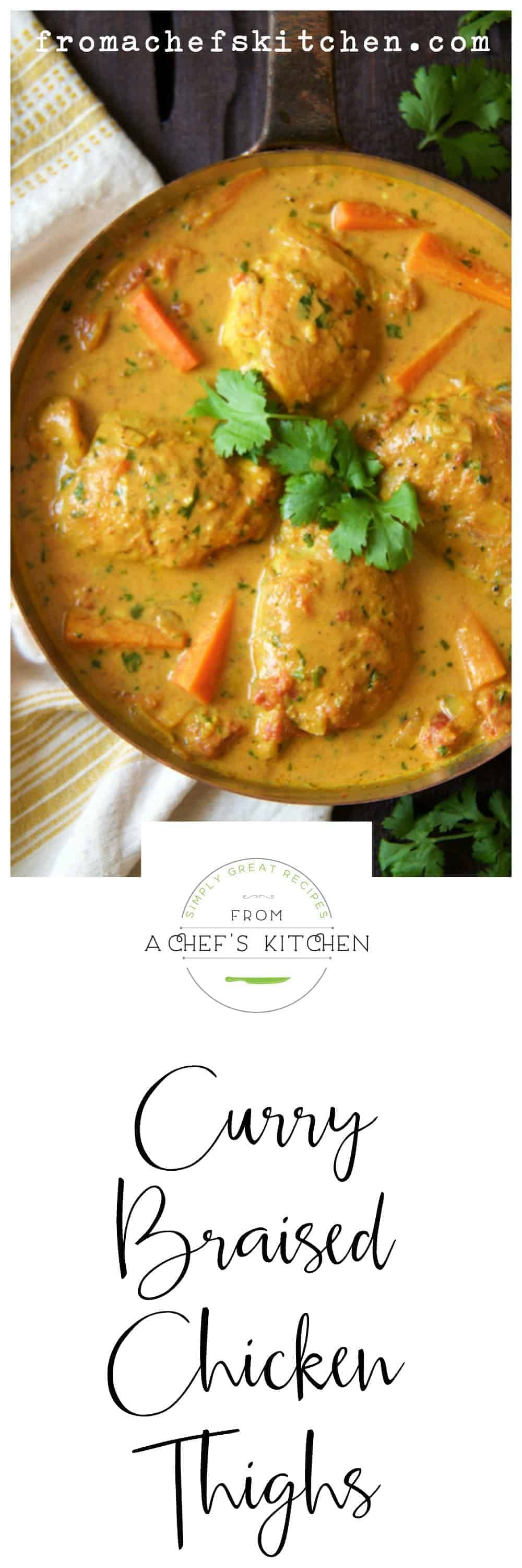 Curry braised chicken thighs from a chefs kitchen curry braised chicken thighs forumfinder Choice Image