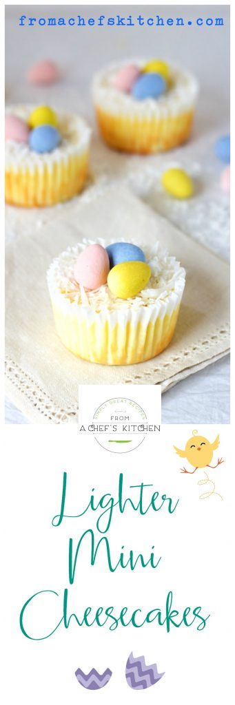 Lighter Mini Cheesecakes are the perfect portion for a healthier Easter!