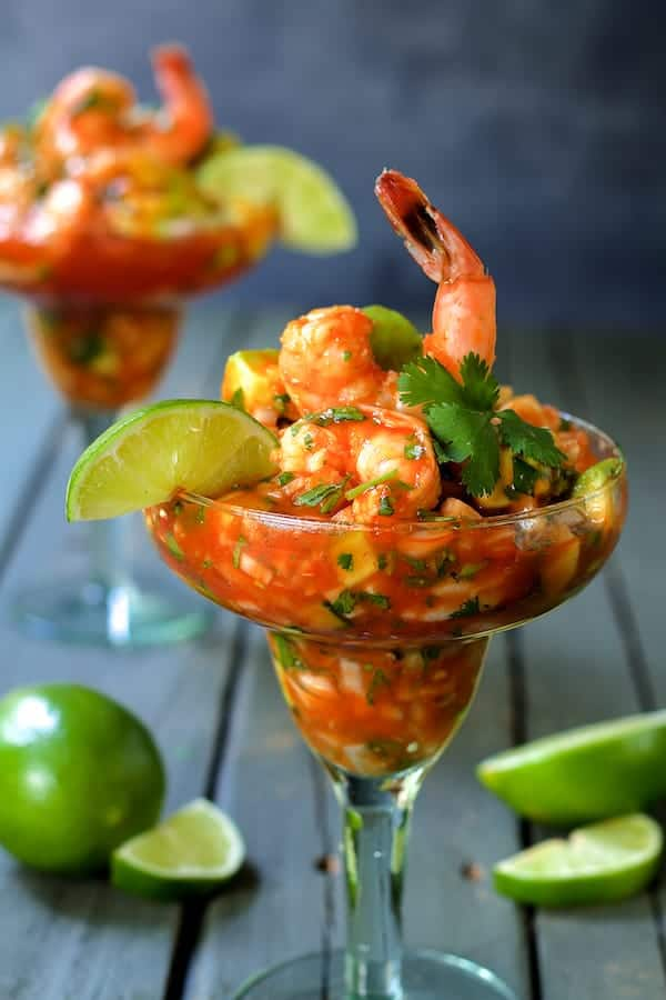 Mexican Shrimp Cocktail - Close-up