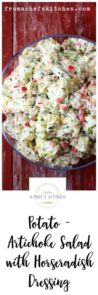 Potato Artichoke Salad with Horseradish Dressing