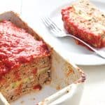 Layered Turkey Meatloaf with Roasted Red Pepper and Balsamic Glaze