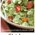 Chicken Pasta Salad with Spinach and Buttermilk Dressing