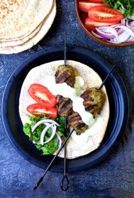 Grilled Turkish Ground Lamb Kebabs