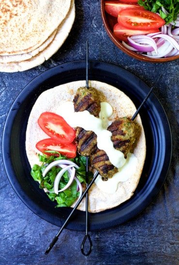 Grilled Turkish Ground Lamb Kebabs