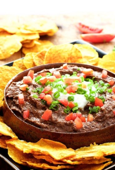 Smokin' Chipotle Black Bean Dip with Butternut Squash Chips