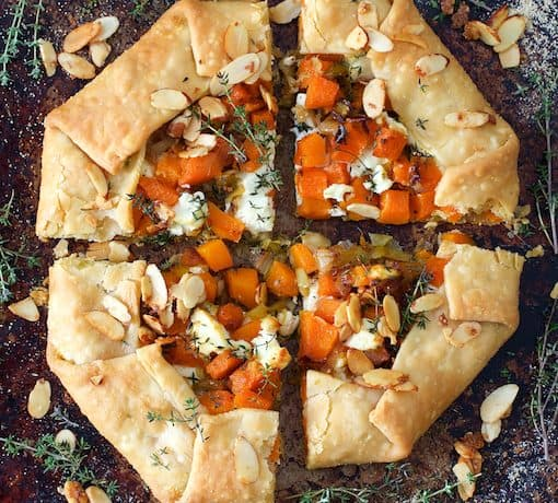 Butternut Squash Leek and Goat Cheese Galette