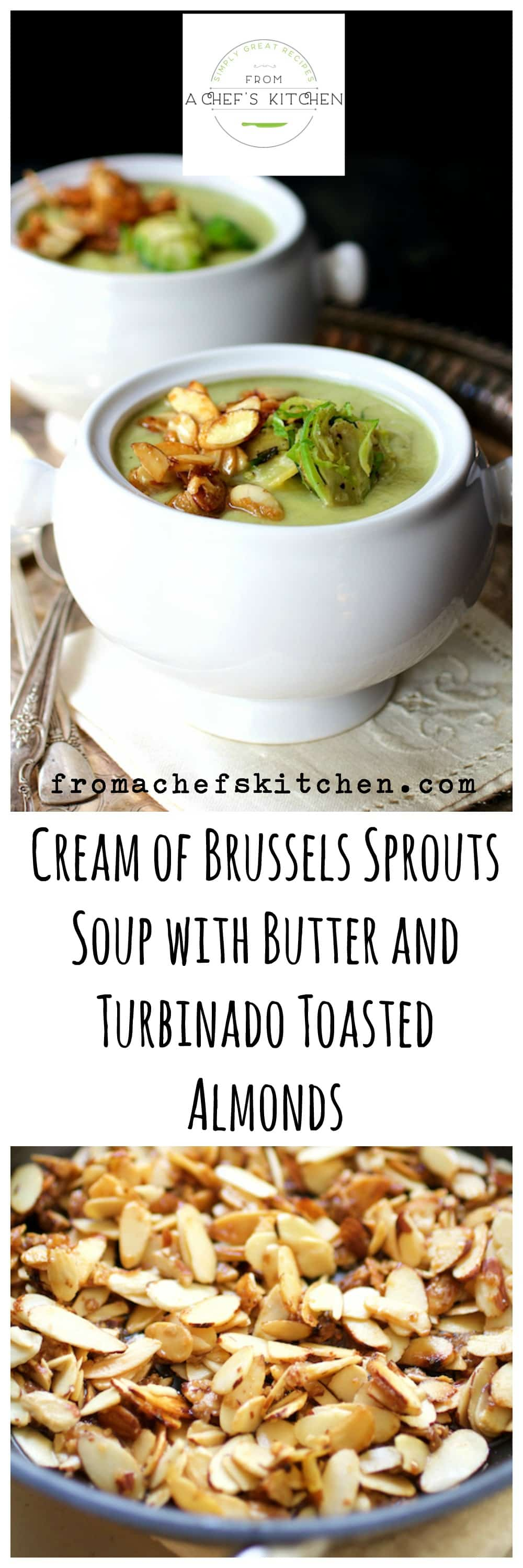 Want to do something creative with Brussels sprouts this holiday season?  Try this show-stopping soup starter!