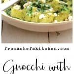 Gnocchi with Spinach and Avocado - Goat Cheese Sauce is perfect for a quick weeknight dinner!