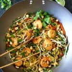 Shrimp Pad Thai with Zucchini Noodles