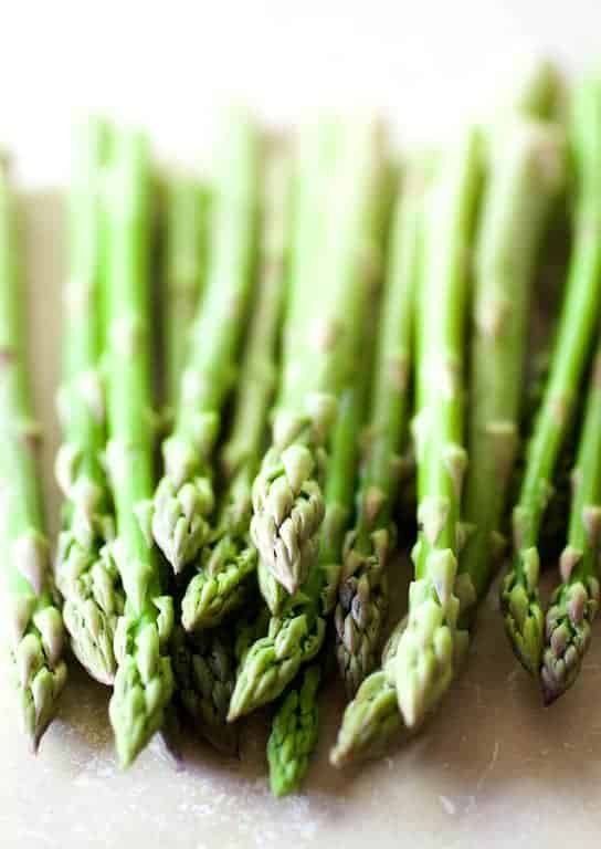 Photo of fresh, uncooked asparagus
