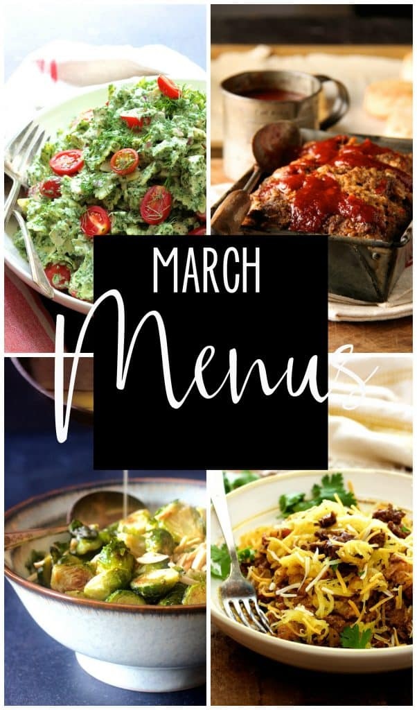 March Personal Chef Menus