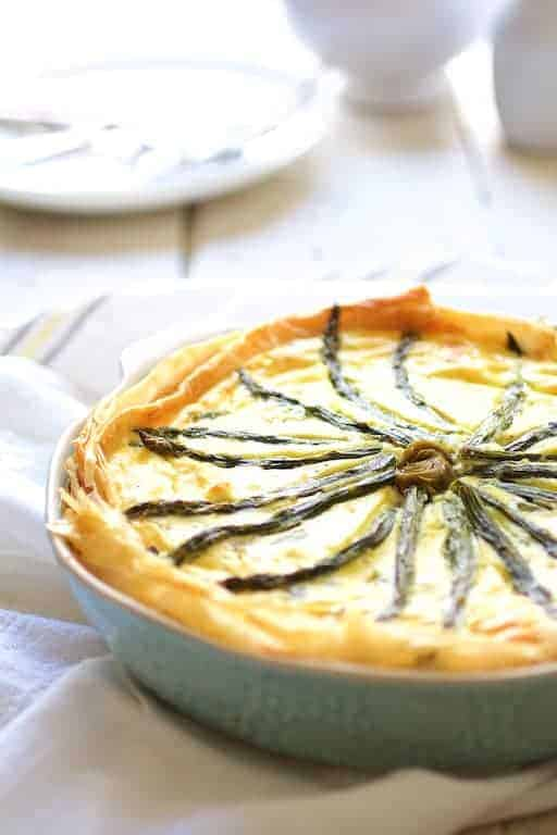 Photo of Spring Vegetable Pie with Feta Cheese and Filo Crust.