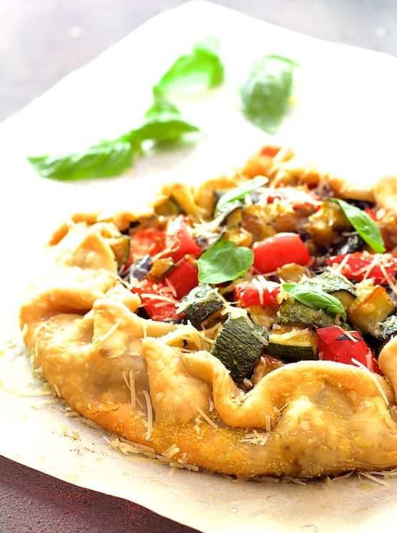 Mediterranean Roasted Vegetable Galette