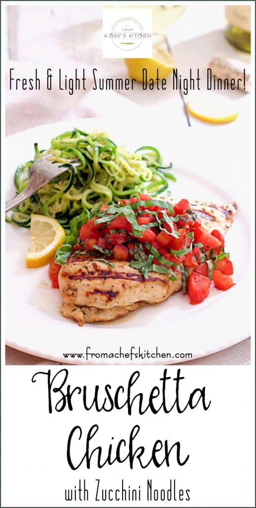 Pinterest Image for Bruschetta Chicken