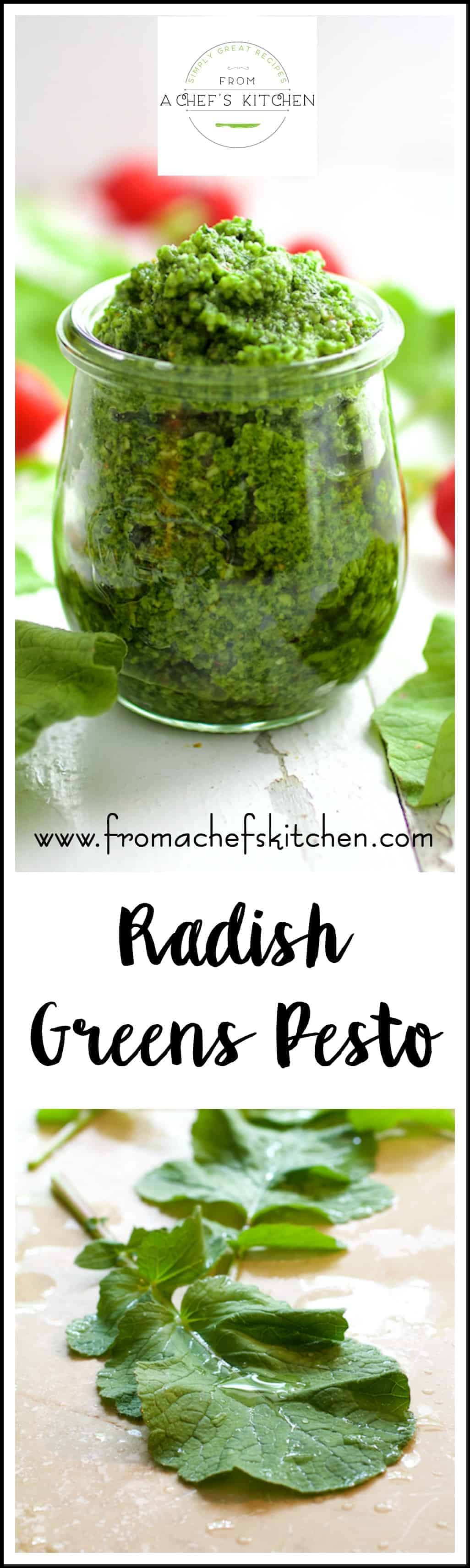 Pungent, peppery radish greens make perfect pesto and pack a nutritional punch!