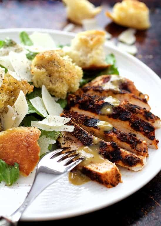 Blackened Chicken Caesar Salad