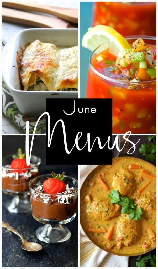 June Personal Chef Menus