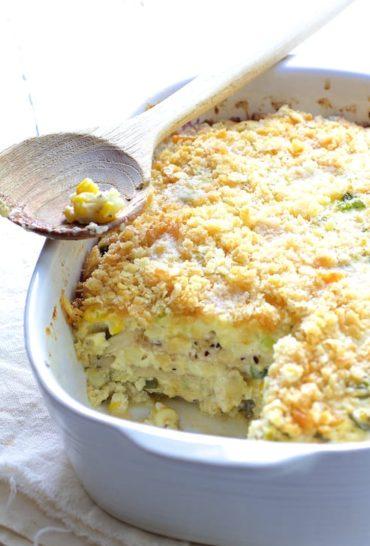 Layered Zucchini Corn Casserole