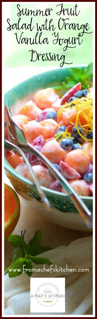 Love the fruit salad again with Summer Fruit Salad with Orange Vanilla Yogurt Dressing