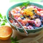 Summer Fruit Salad with Orange Vanilla Yogurt Dressing