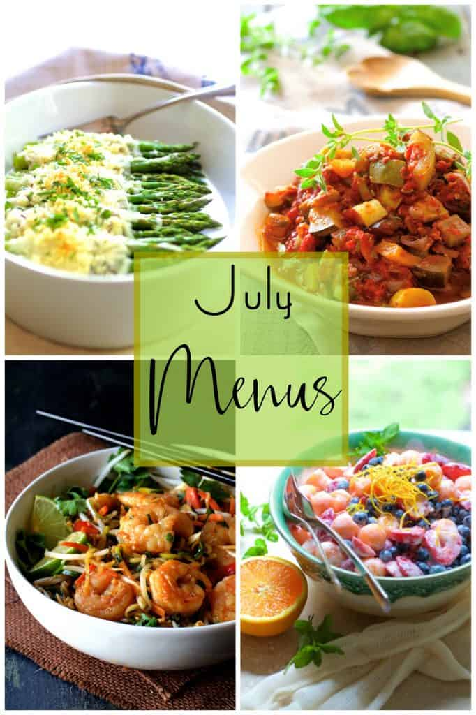 July Personal Chef Menus