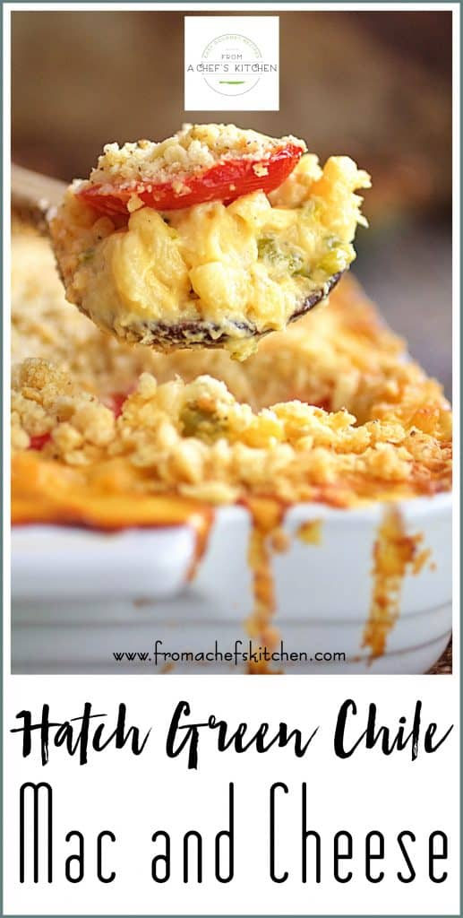 Pin for Hatch Green Chile Mac and Cheese