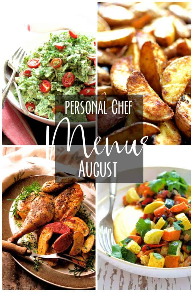 August Personal Chef Menus