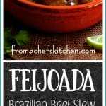 Feijoada is the national dish of Brazil that can take a day or two to make. Here's a great recipe that has ingredients easily found at any supermarket. With the help of a pressure cooker, it's as good as done!
