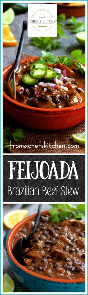 Feijoada is the national dish of Brazil that can take a day or two to make. Here's a great recipe with ingredients easily found at any supermarket. With the help of a pressure cooker, it's as good as done!