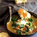 White Bean, Artichoke and Baby Greens Soup