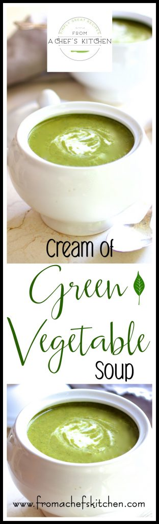 Not your momma's cream soup! This Cream of Green Vegetable Soup is loaded with superfoods broccoli, kale, Brussels sprouts and spinach with just a touch of cream!