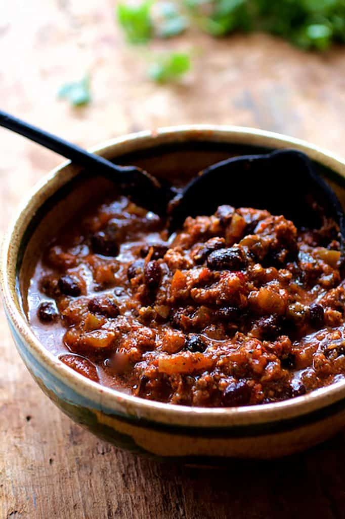 Beef and Chorizo Chili with Black Beans
