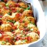 Hasselback Potato Bake with Cheddar and Bacon