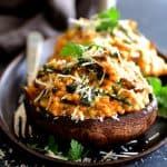 Barley Risotto Stuffed Portobello Mushrooms