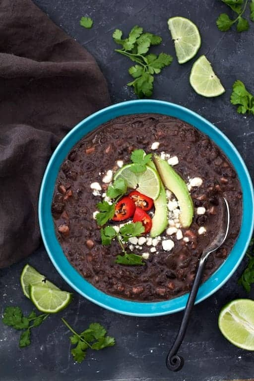 Slow Cooker Black Bean Soup with Ham