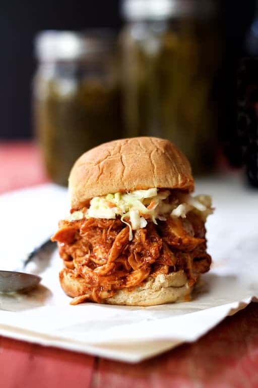 Sweet and Spicy Barbecue Chicken Sliders