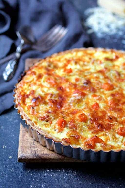 Butternut Squash Leek and Gruyere Tart