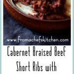 Cabernet Braised Beef Short Ribs are succulent and meltingly tender with intense flavor. Paired with Cauliflower Leek Puree, this is a lovely comforting midwinter meal.