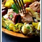 Quick Pantry Mediterranean Tuna Salad is light, heart-healthy, low-carb and sugar-free! It can be pulled together from items you probably already have in your pantry!