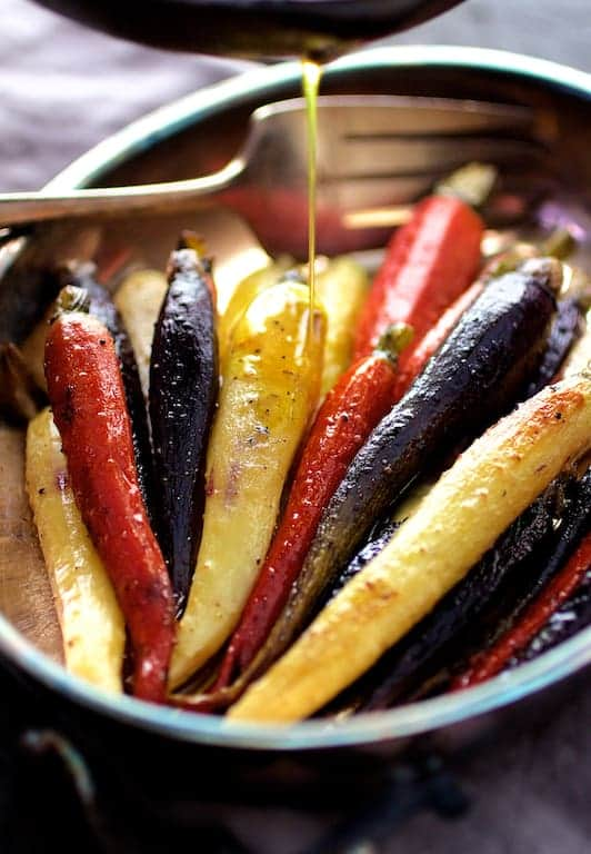 Roasted Carrots with Honey Curry Browned Butter